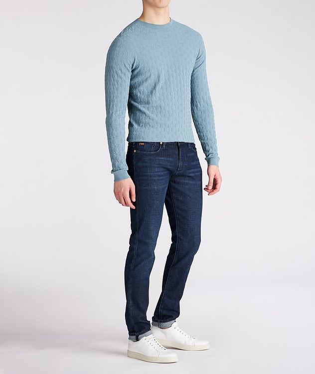 Slim-Fit Textured Sweater picture 3