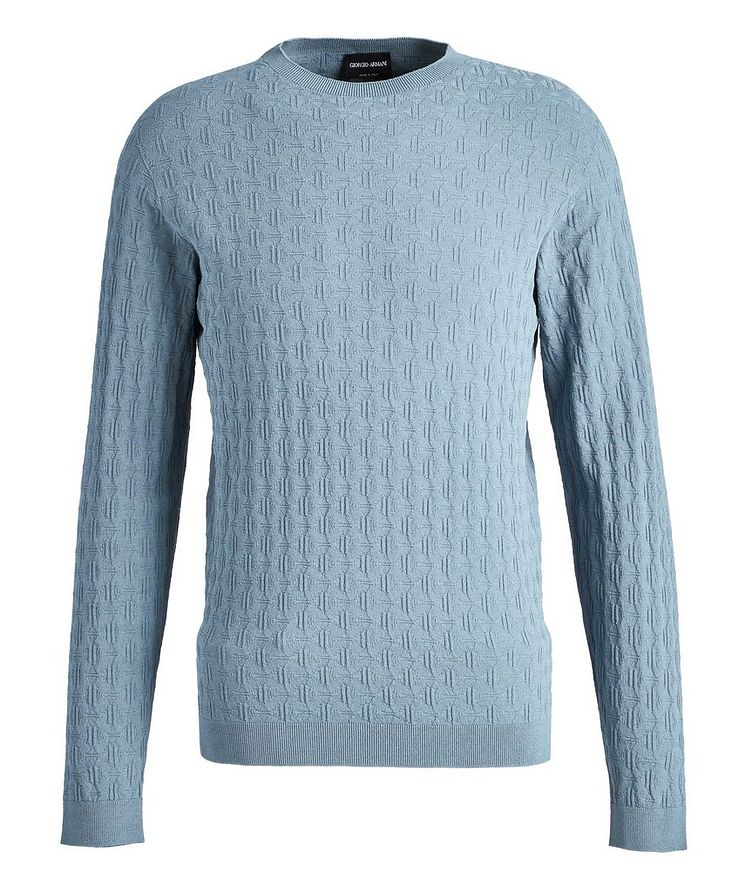Slim-Fit Textured Sweater image 0