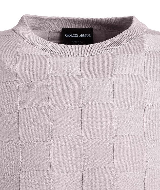 Slim-Fit Textured Wool-Blend Sweater picture 2