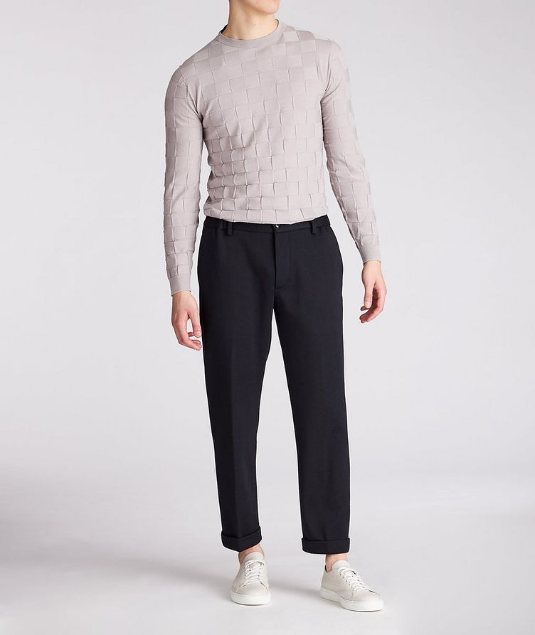 Slim-Fit Textured Wool-Blend Sweater image 2