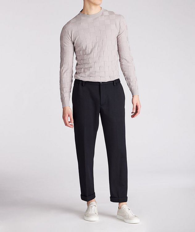 Slim-Fit Textured Wool-Blend Sweater picture 3