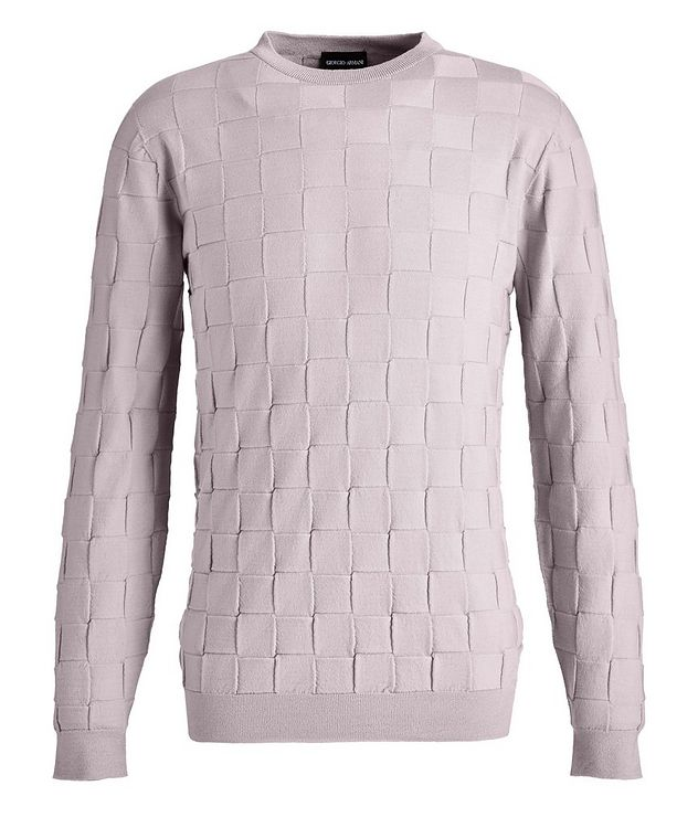Slim-Fit Textured Wool-Blend Sweater picture 1