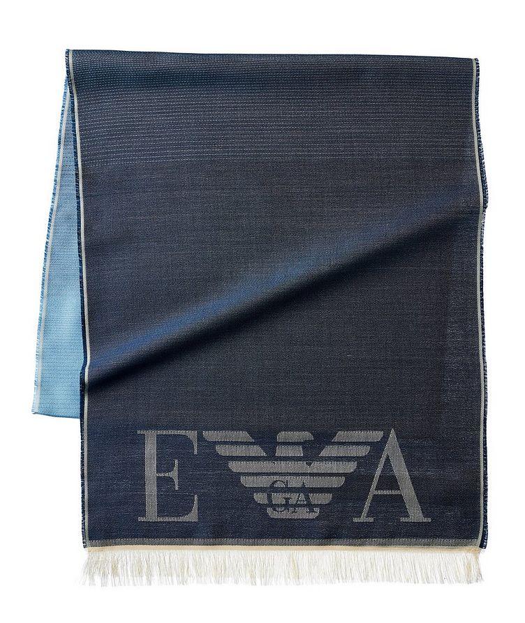 Écharpe en soie avec logos image 0