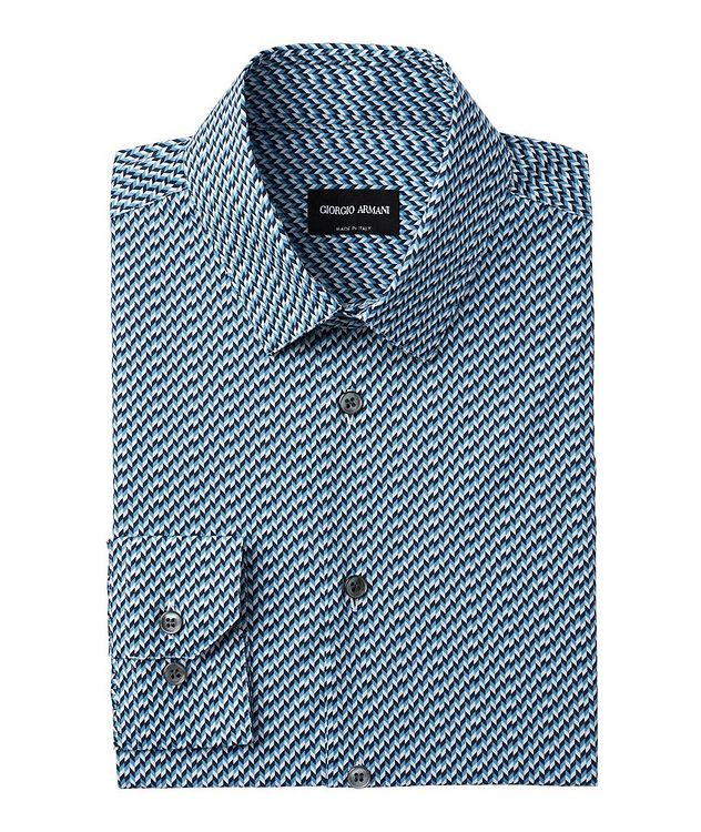 Houndstooth Stretch-Cotton Dress Shirt picture 1