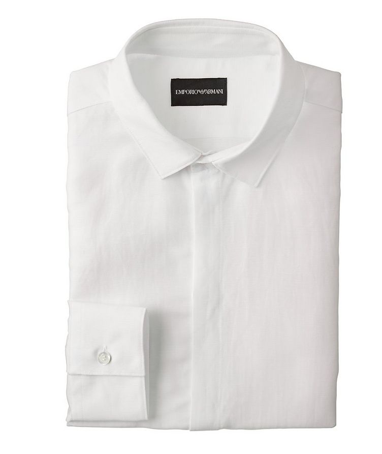 Slim-Fit Linen-Lyocell Dress Shirt image 0
