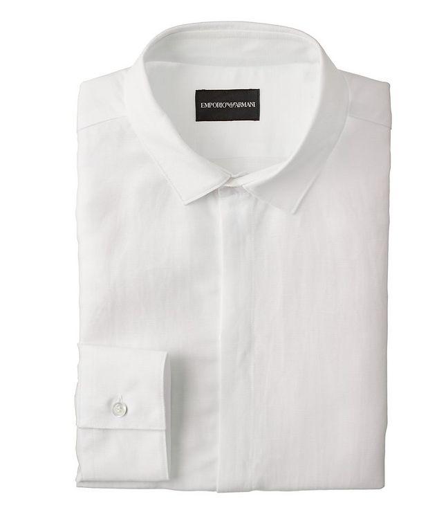 Slim-Fit Linen-Lyocell Dress Shirt picture 1
