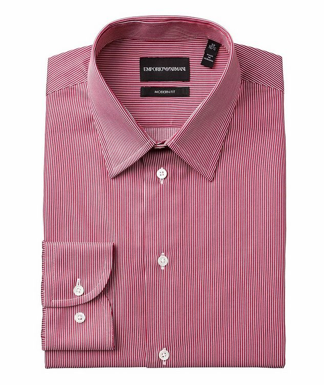 Slim-Fit Pinstriped Cotton Shirt picture 1