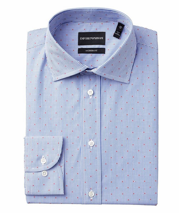 Slim-Fit Pinstriped Cotton Shirt image 0