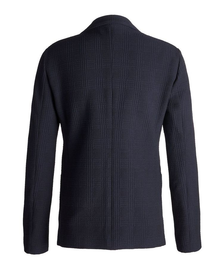 Contemporary Fit Textured Jersey Sports Jacket image 1