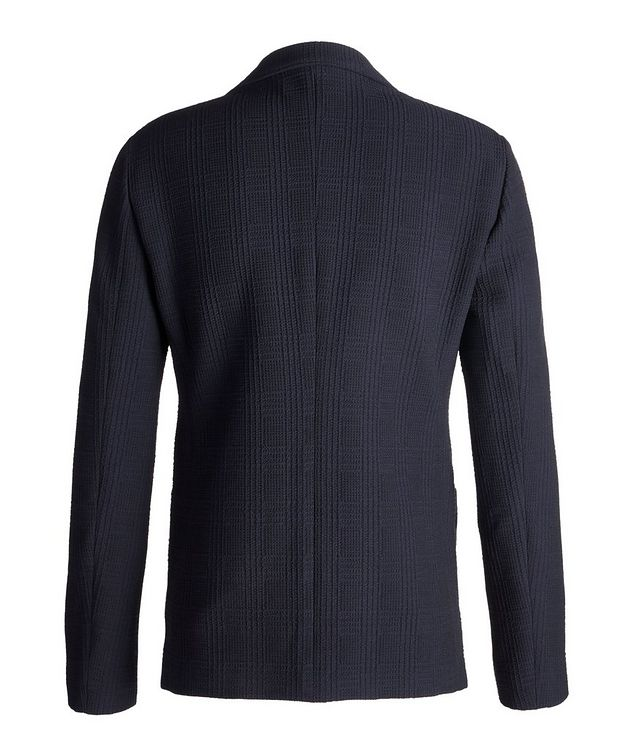 Contemporary Fit Textured Jersey Sports Jacket picture 2