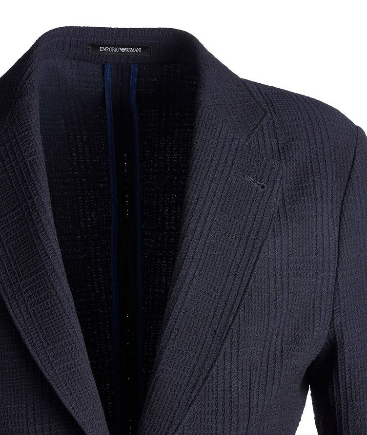 Contemporary Fit Textured Jersey Sports Jacket image 2