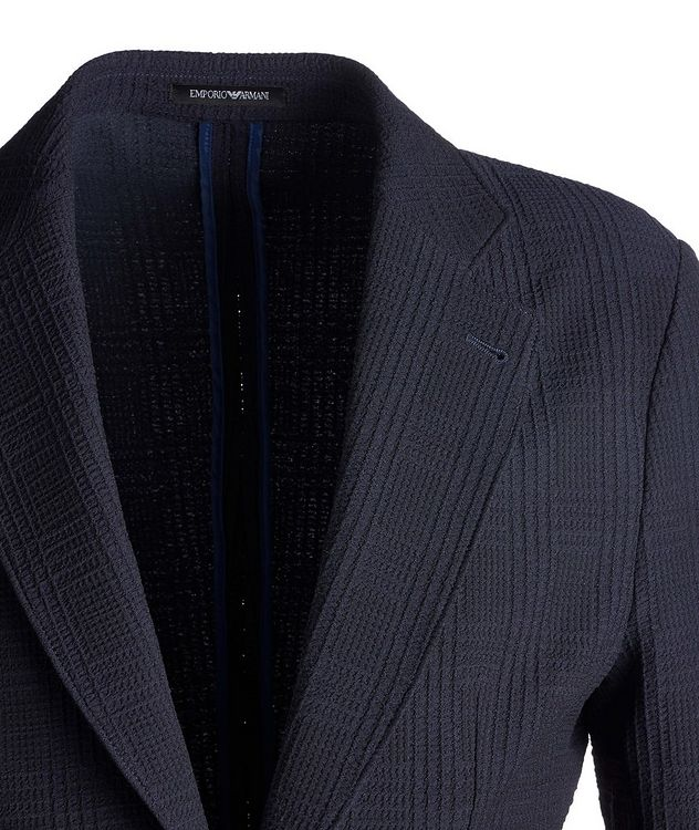 Contemporary Fit Textured Jersey Sports Jacket picture 3