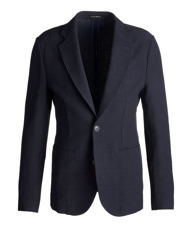Contemporary Fit Textured Jersey Sports Jacket picture 1