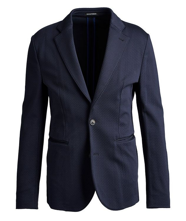 Unstructured Herringbone Sports Jacket picture 1