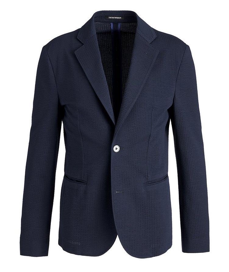 Unstructured Cotton-Blend Sports Jacket image 0