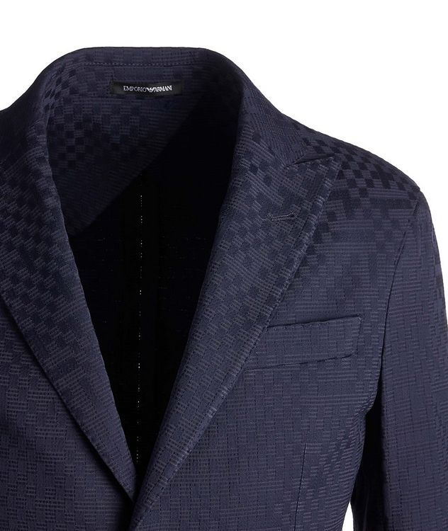 City Line Checked Cotton-Blend Sports Jacket picture 3