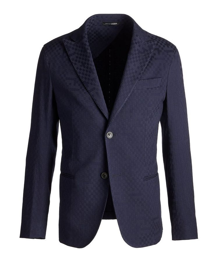 City Line Checked Cotton-Blend Sports Jacket image 0