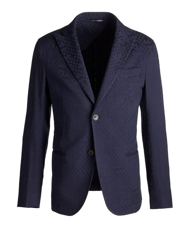 City Line Checked Cotton-Blend Sports Jacket picture 1