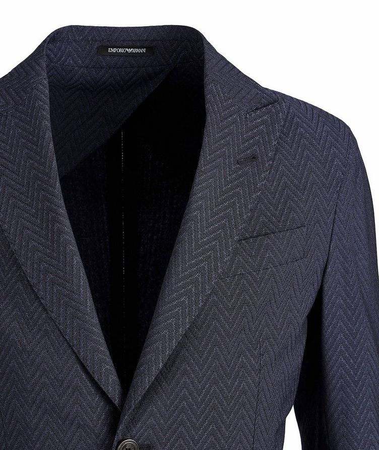 Slim-Fit City Line Stretch-Wool-Silk Sports Jacket image 2