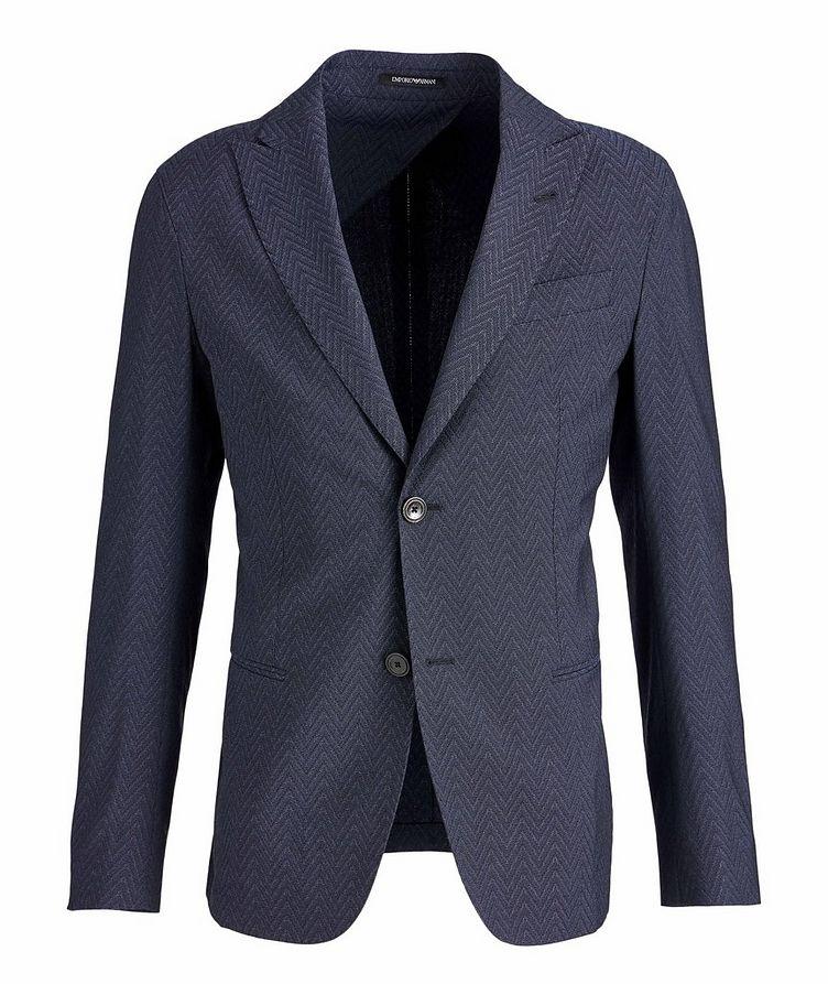 Slim-Fit City Line Stretch-Wool-Silk Sports Jacket image 0