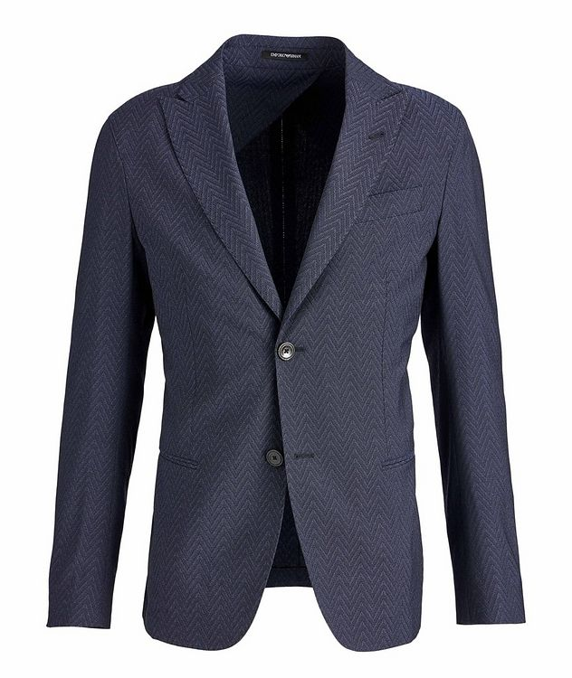 Slim-Fit City Line Stretch-Wool-Silk Sports Jacket picture 1