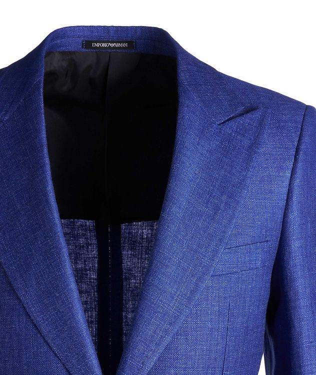 Savile Line Contemporary Fit Linen-Wool Sports Jacket  picture 3