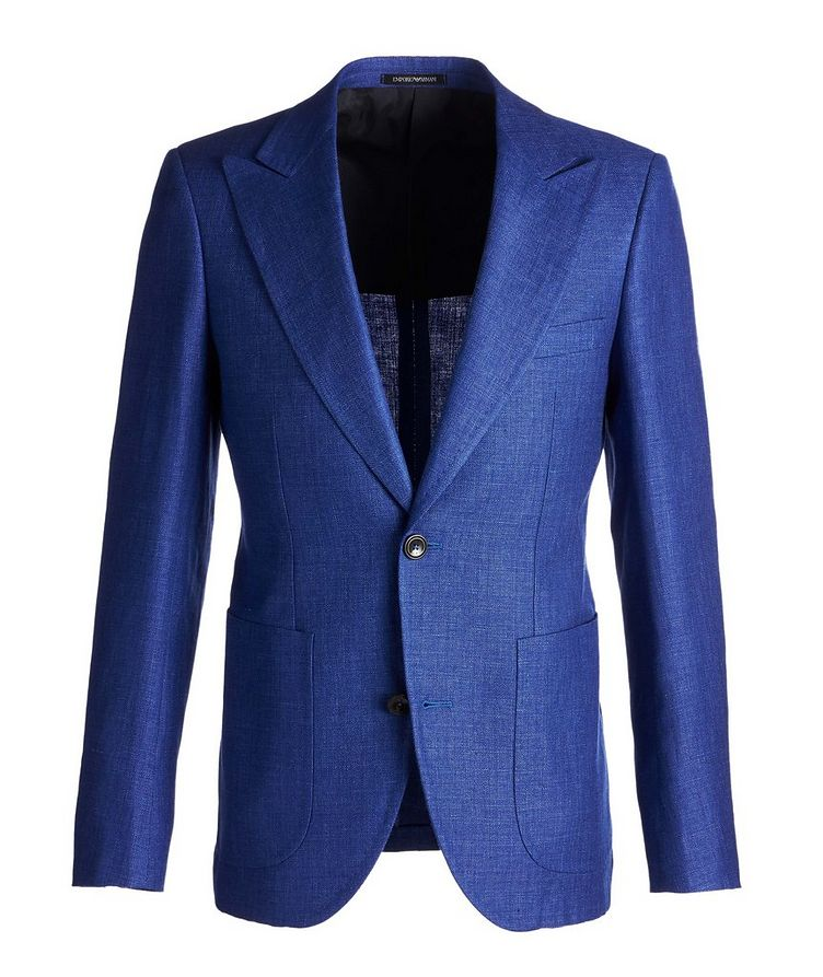 Savile Line Contemporary Fit Linen-Wool Sports Jacket  image 0
