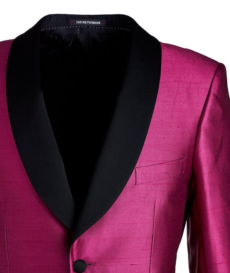 Slim Fit Satin Tuxedo Jacket image 2