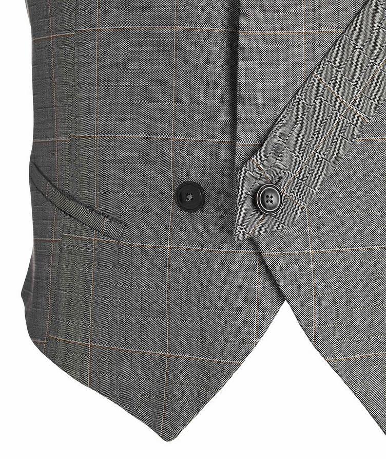 Slim Fit Windowpane Wool Vest image 1