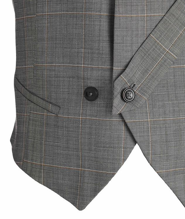 Slim Fit Windowpane Wool Vest picture 2