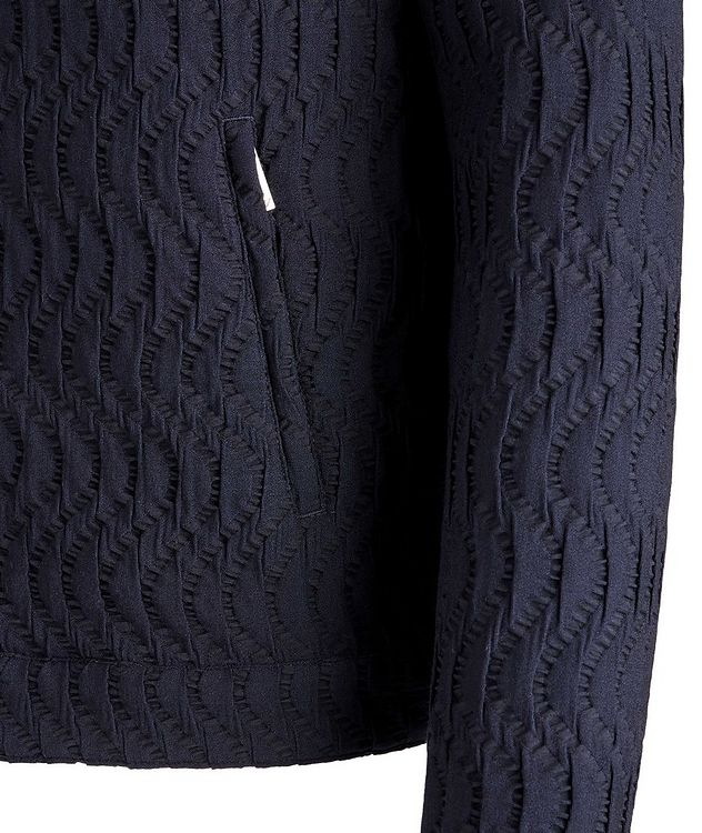 Viscose-Blend Jacquard Hooded Bomber picture 3