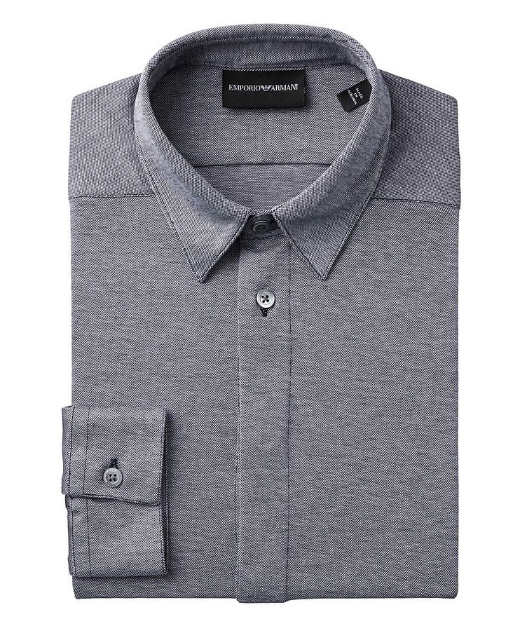 Slim-Fit Cotton-Jersey Shirt image 0