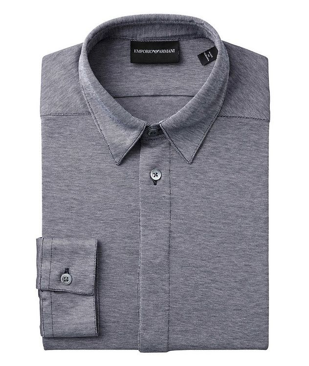 Slim-Fit Cotton-Jersey Shirt picture 1