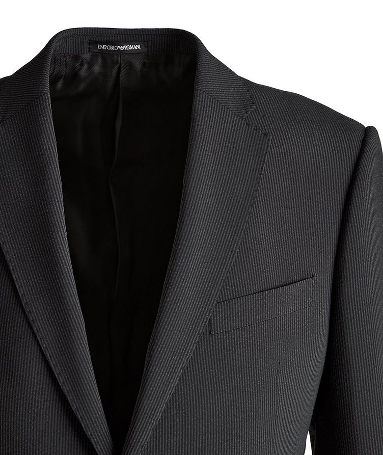 M-Line Seersucker Stretch-Wool-Silk Suit image 2
