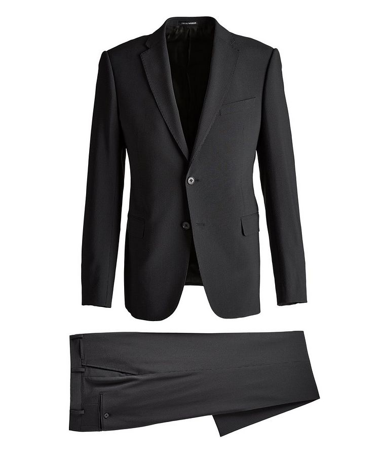 M-Line Seersucker Stretch-Wool-Silk Suit image 0