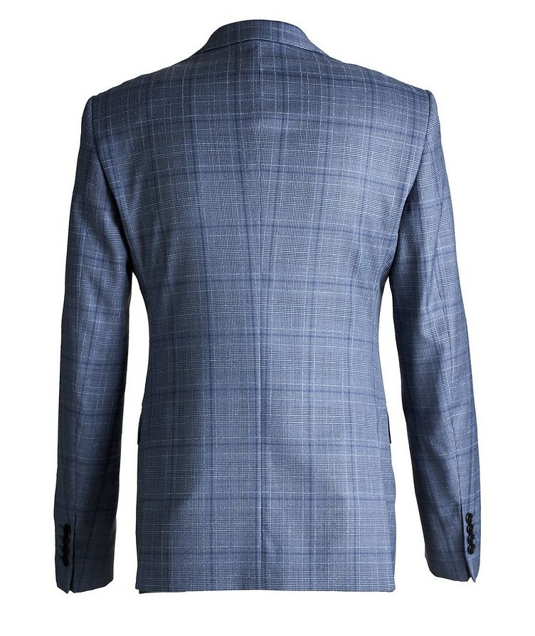M-Line Contemporary Fit Checked Wool Suit image 1