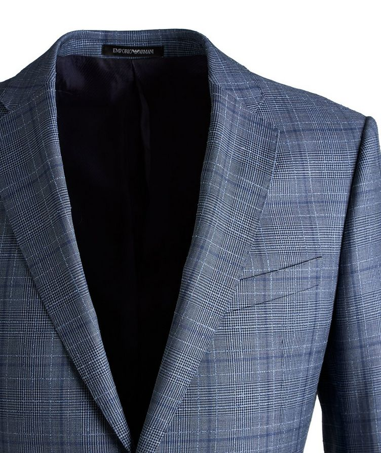 M-Line Contemporary Fit Checked Wool Suit image 2