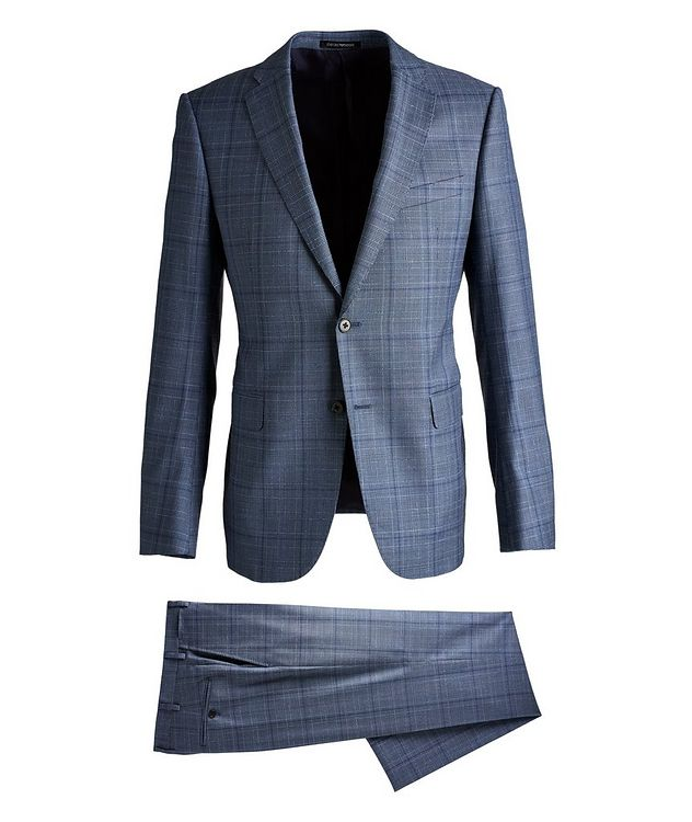 M-Line Contemporary Fit Checked Wool Suit picture 1