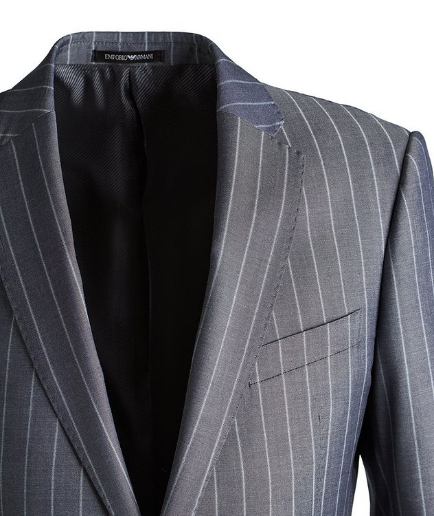 M-Line Striped Wool-Blend Suit picture 3