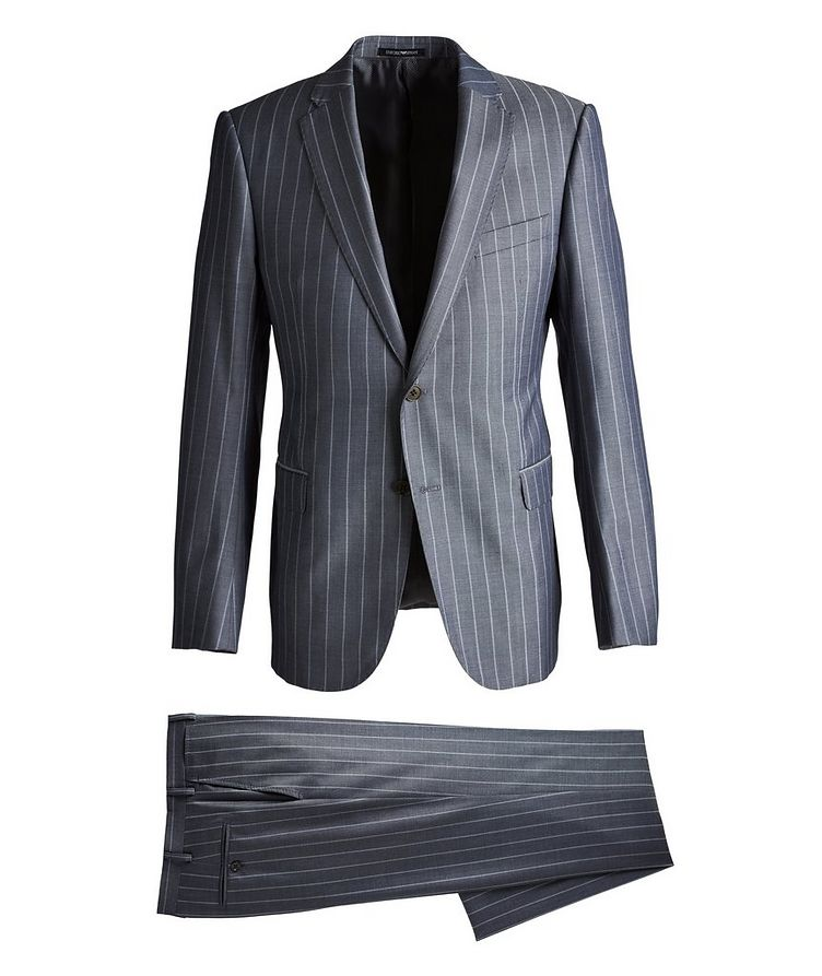 M-Line Striped Wool-Blend Suit image 0