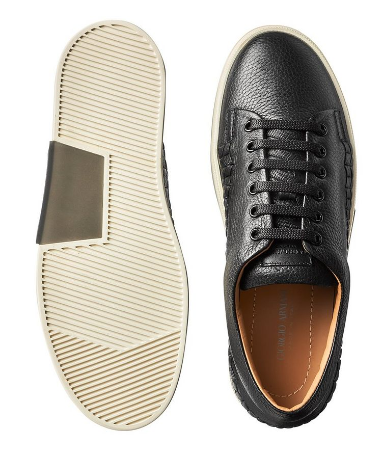 Woven Leather Sneakers image 2