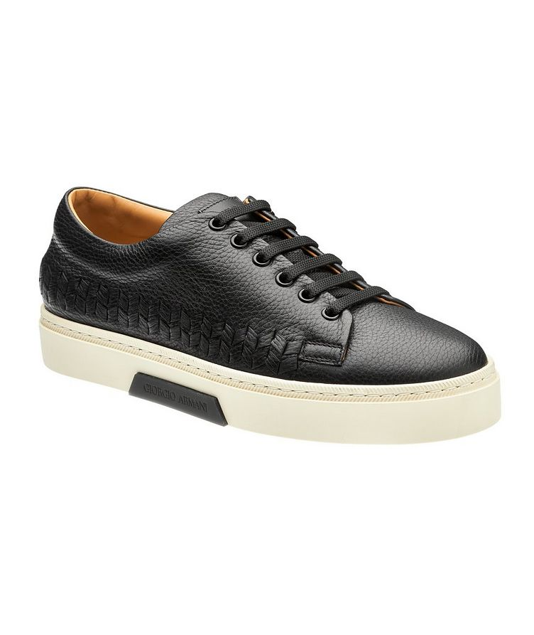 Woven Leather Sneakers image 0