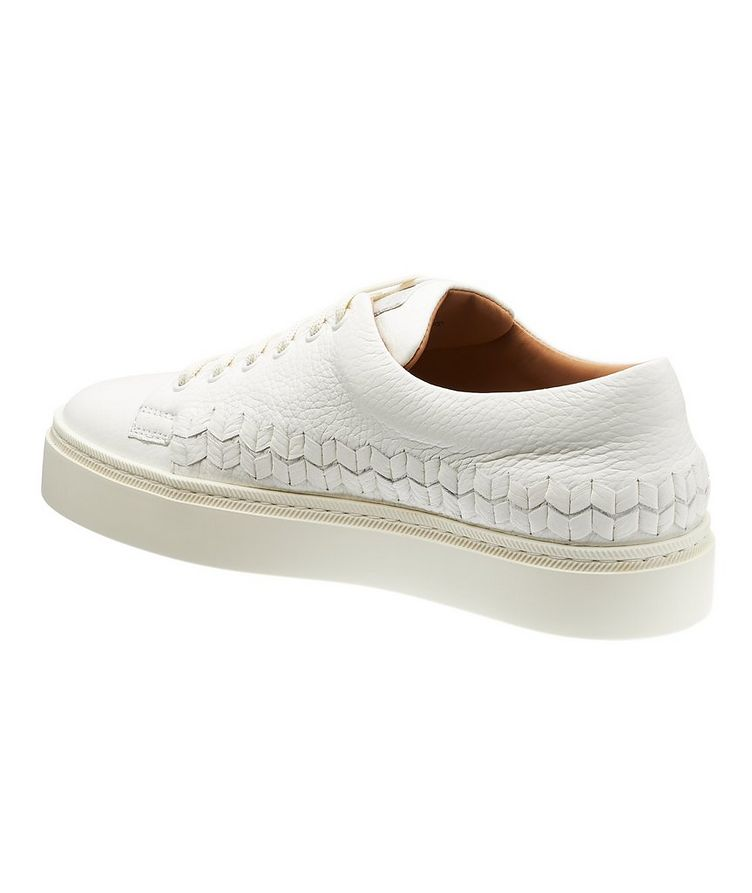 Woven Leather Sneakers image 1
