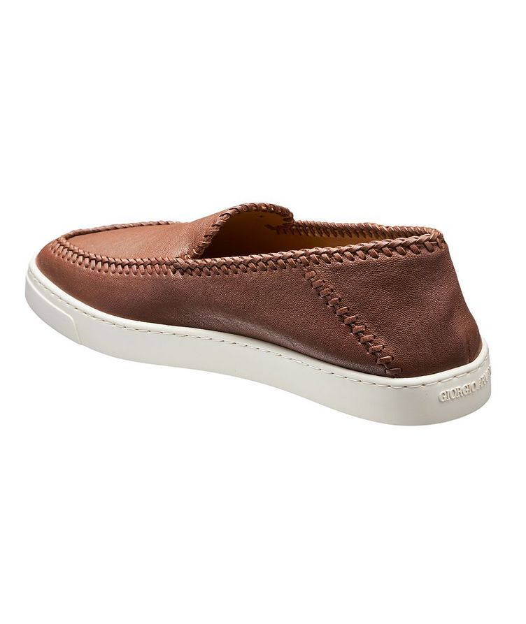 Slip-On Leather Sneakers image 1