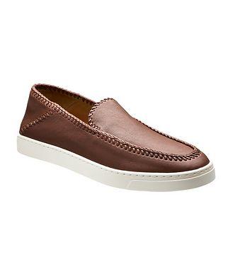 Giorgio Armani Slip-On Leather Sneakers