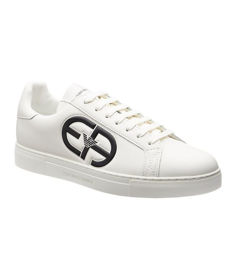 Logo Leather Sneakers image 0