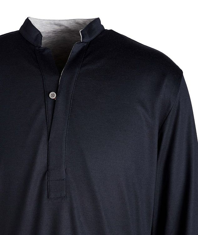 Reversible Wool-Cotton Blend Henley  picture 2