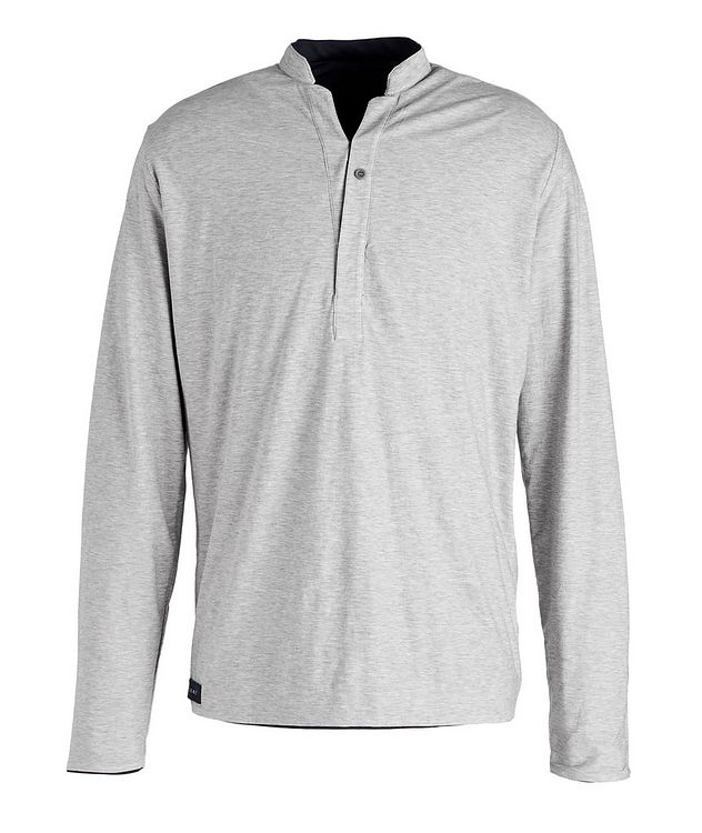Reversible Wool-Cotton Blend Henley  picture 3