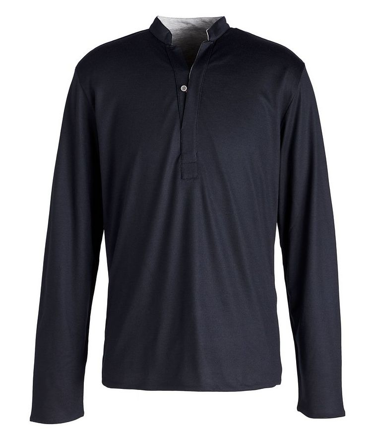 Reversible Wool-Cotton Blend Henley  image 0