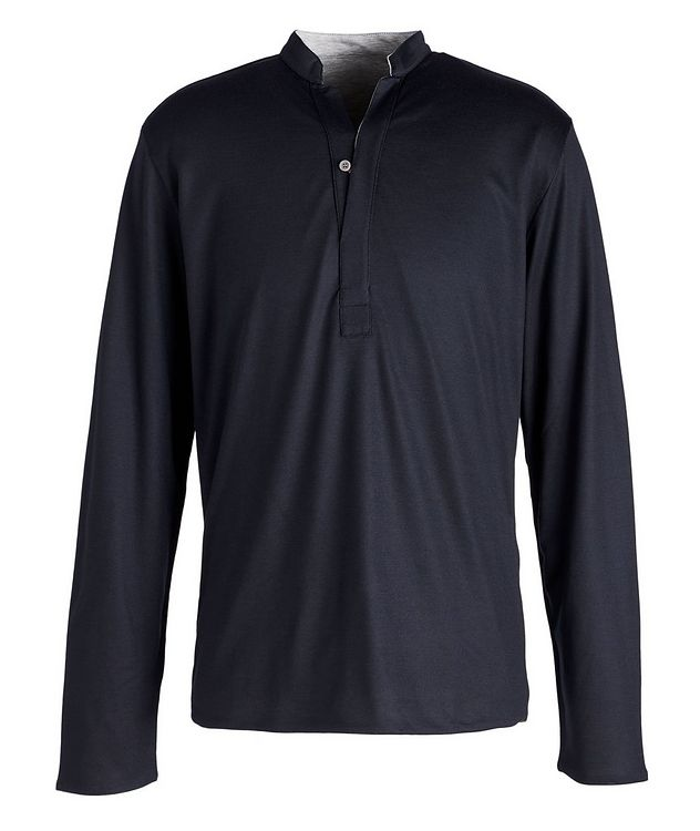 Reversible Wool-Cotton Blend Henley  picture 1